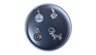 Dog Pewter Stitch Marker Set