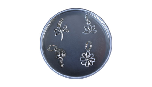 Garden Pewter Stitch Marker Set
