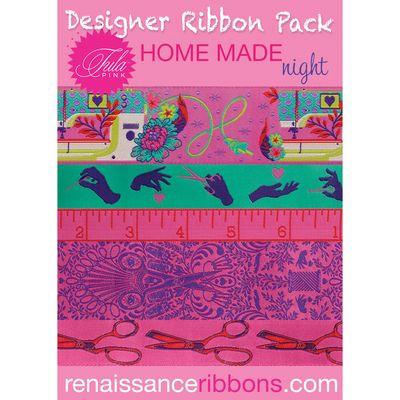 Tula Pink HomeMade Night Designer Ribbon Pack