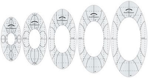 Good Measure Longarm Quilting Template by Amanda Murphy - Every Oval set of 5