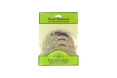 Good Measure Low Shank Quilting Template by Amanda Murphy Every Circle set of 5