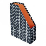 Magazine Box File - Linear Stem Navy