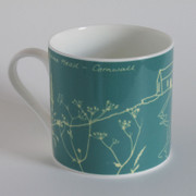 "Cornish Bone China ""Island"" Mug"