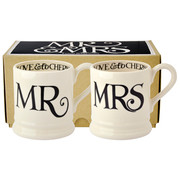 Black Toast Mr & Mrs 2 x 1/2 Pint Mugs Boxed