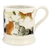 1/2 Pint All Over Cat Mug