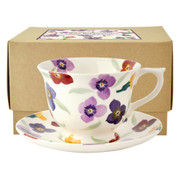 Large Wallflower Teacup and Saucer