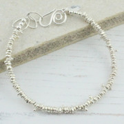Sterling Silver Small Nugget Bracelet