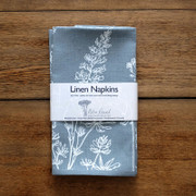 Helen Round Hand Printed Linen Napkins Set of Two