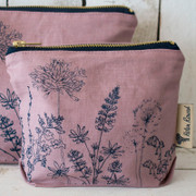 Small Cosmetic Case - Rose Hedgerow