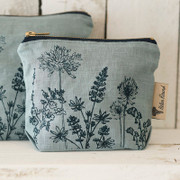 Small Cosmetic Case - pale Blue Hedgerow