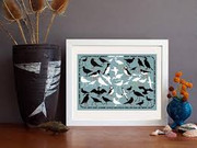 A4 Framed Print - Seabirds