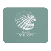 Pale Green Placemat -  Cornish Scallops