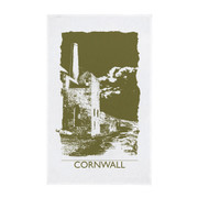 A stunning tea towel featuring a Cornish Tin Mine.