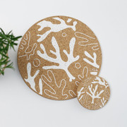Cork Placemat & Matching Coaster -  Seaweed