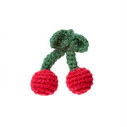 Fair trade Crochet Brooch - Cherries