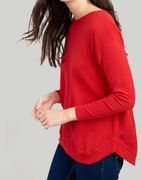 A simple, flattering cotton knit is a piece every woman should own. This easy-to-wear style is great for in-between seasons and is great to pull on on those 'can't decide what to wear days'. We recommend wearing it with a pair of jeans and classic Chelsea boots.