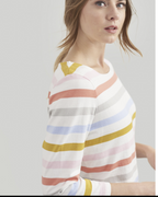 The much-loved striped Harbour jersey top is back in new and old favourite colours. A take on the classic Breton top it's no wonder it's one of your all-time favourites. A true wear-it-anywhere essential. How many have you got in your wardrobe?