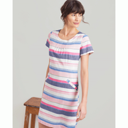 The Henrietta is the perfect little number for this summer with its' light cotton/ linen blend and capped sleeves. Pair with some sandals or trainers for the dress down look but this dress is also perfect for more formal occassions like Christenings and other summer events.