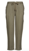 Piperly Green Linen Trousers