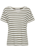 Khaki Stripe Raleigh T Shirt
