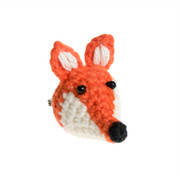 Fair trade Crochet Brooch - Fox