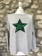 Green Sequin Star Jumper