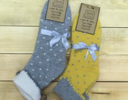 Small Polka Dot Wool Socks