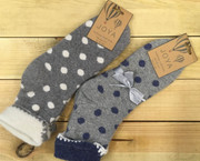Large Polka Dot Wool Socks