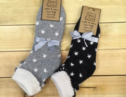 Star Print Wool Socks