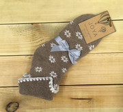 Wool Snowflake Socks