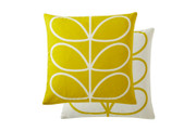 Orla Kiely Linear Stem Cushion - Sunflower Yellow