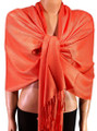 Pashmina Solid Bright Orange 2-29
