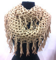 Metallic Knitted Fishnet Chain Loop Infinity Scarf Assorted Dozen #345
