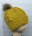 Knit Cable Sequin Hats with Soft Faux Fur Pom Pom Assorted Dozen #H1132