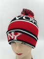 New York Beanie Hats With Ball Assorted Dozen #H1140