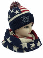 American Flag Stars Knit Beanie Hats Infinity Scarf Sets Dozen  #1521