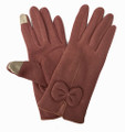 Women's touch Gloves with bow Assorted dozen # G1045