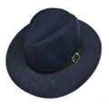 Fashion Summer Straw Hat Navy # H8025-1