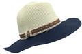 Fashion Summer Straw Hat Navy / Ivory # H 8014-3