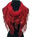 Lightweight Flower Lace Scarf with Fringe Assorted Dozen #902