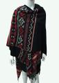 Womens Stylish Poncho Cape Shawl  Black # P039-3