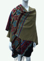 Womens Stylish Poncho Cape Shawl  Khaki # P039-4