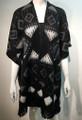 Womens Stylish Poncho Cape Shawl Black # P047-1