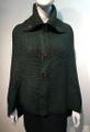Ladies' Stylish Two-Tone Poncho Green / Navy # P179-8