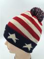 American Flag Stars Knit Hats Wholesale Dozen #H1158