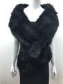 Super Soft Faux Fur  Warm Scarf Black  #S 82-2