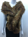 Super Soft Faux Fur  Warm Scarf Brown  #S 82-1