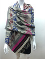 Multi  Color Shawl Scarf Assorted Dozen # s86