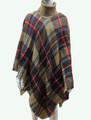 Womens Stylish Turtleneck  Poncho Khaki # P184-1