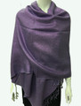 New!  Solid Color Metallic Pashmina Purple Dozen #8-4